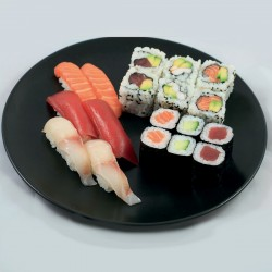 Trio 6 Sushi, 6 Maki, 6 California Mix